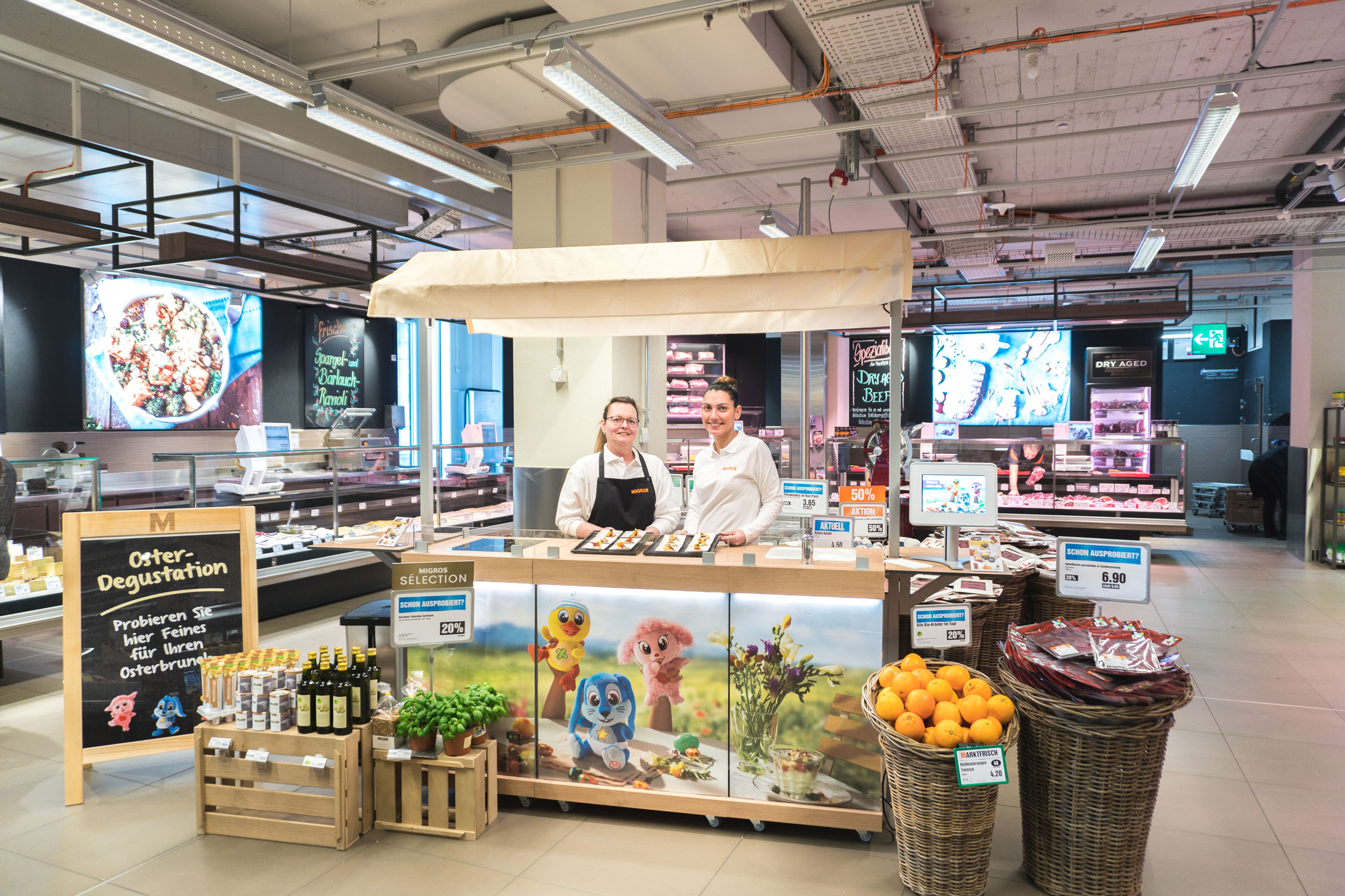 Migros-Promotions-Stand